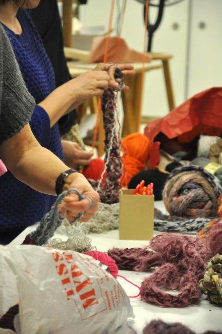tricoter en bande